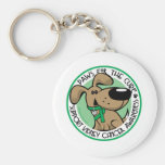 Kidney Cancer Paws for the Cure Key Chains