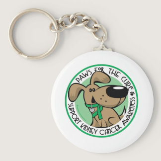 Kidney Cancer Paws for the Cure Keychain