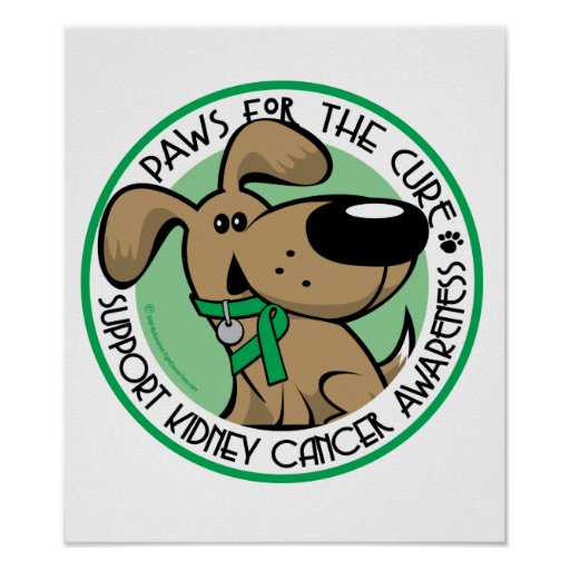 Kidney Cancer Paws for the Cure Print