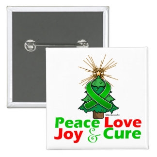 Kidney Cancer Peace Love Joy Cure 2 Button