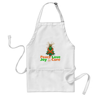 Kidney Cancer Peace Love Joy Cure Adult Apron