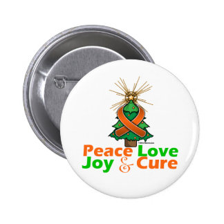 Kidney Cancer Peace Love Joy Cure Button
