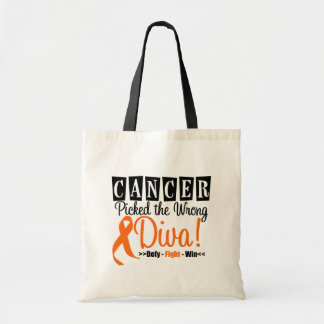 Kidney Cancer Picked The Wrong Diva v3 Budget Tote Bag