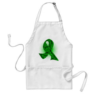 Kidney Cancer Powerful Ribbon Slogans Standard Apron