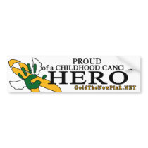 "Kidney Cancer - ""Proud"" Angel Bumper Sticker"