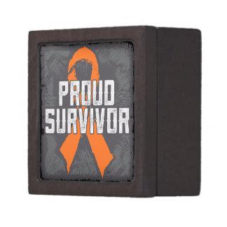 Kidney Cancer Proud Survivor Premium Gift Boxes