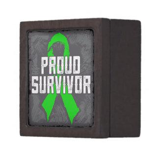 Kidney Cancer Proud Survivor Premium Keepsake Boxes
