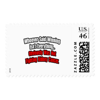 Kidney Cancer Quote Postage Stamp