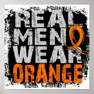 Kidney Cancer Real Men Wear Orange Print