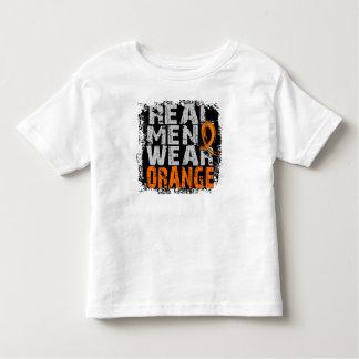 Kidney Cancer Real Men Wear Orange T Shirt