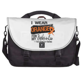 Kidney Cancer Ribbon Brother-in-Law Laptop Commuter Bag