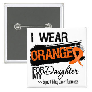 Kidney Cancer Ribbon Daughter 2 Inch Square Button