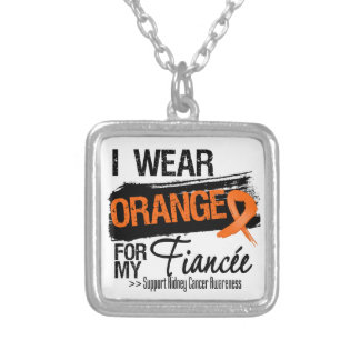 Kidney Cancer Ribbon Fiancee Personalized Necklace