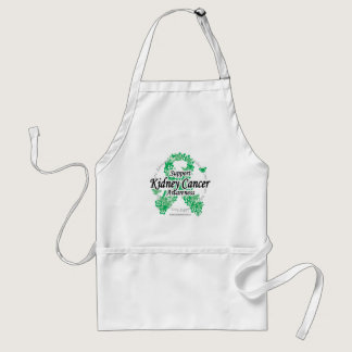 Kidney Cancer Ribbon of Butterflies Adult Apron