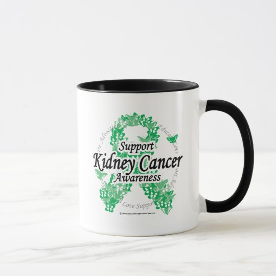 Kidney Cancer Ribbon of Butterflies Mug
