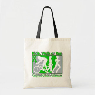 Kidney Cancer Ride Walk Run Budget Tote Bag