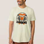 Kidney Cancer Riding For The Cure v2 Tee Shirt