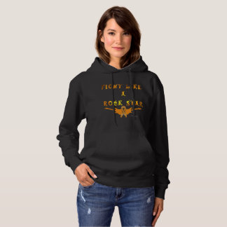 Kidney Cancer Rock Star Ladies Hoodie