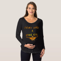 Kidney Cancer Rock Star Maternity Long Sleeve Maternity T-Shirt