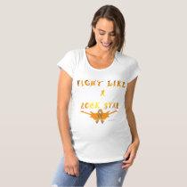 Kidney Cancer Rock Star Maternity T-Shirt