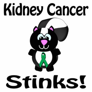 Kidney Cancer Stinks Skunk Awareness Design Acrylic Cut Out