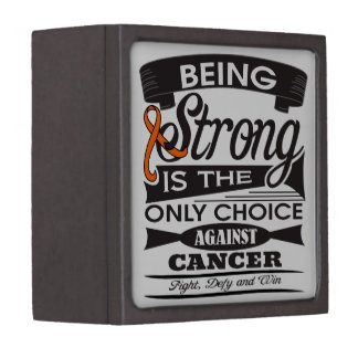 Kidney Cancer Strong is The Only Choice Premium Jewelry Box