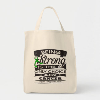 Kidney Cancer Strong is The Only Choice v2 Grocery Tote Bag