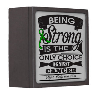 Kidney Cancer Strong is The Only Choice v2 Premium Trinket Box