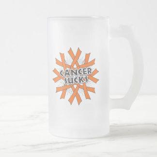Kidney Cancer Sucks 16 Oz Frosted Glass Beer Mug