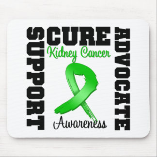Kidney Cancer Support Advocate Cure Green Ribbon Mouse Mat