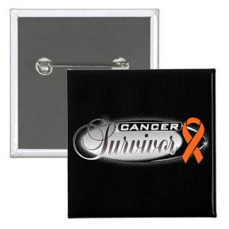 Kidney Cancer Survivor 2 Inch Square Button