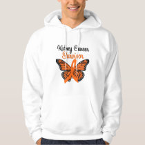 Kidney Cancer SURVIVOR Butterfly Hoodie