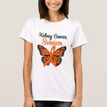 Kidney Cancer SURVIVOR Butterfly T-Shirt