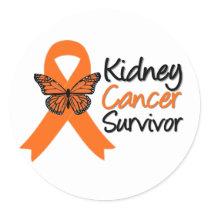 Kidney Cancer Survivor Classic Round Sticker