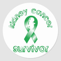Kidney Cancer Survivor Classic Round Sticker