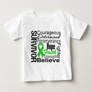 Kidney Cancer Survivor Collage Green T Shirt
