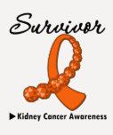Kidney Cancer Survivor Gemstone Ribbon Tshirts