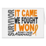 Kidney Cancer Survivor It Came We Fought I Won Greeting Card