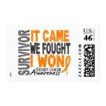 Kidney Cancer Survivor It Came We Fought I Won Postage Stamp