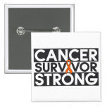 Kidney Cancer Survivor Strong 2 Inch Square Button