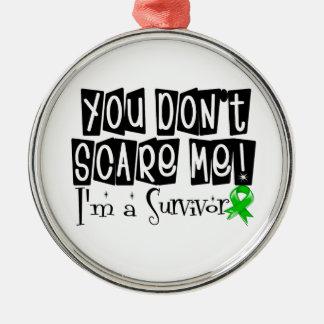 Kidney Cancer Survivor You Don't Scare Me v2 Round Metal Christmas Ornament
