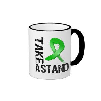 Kidney Cancer Take A Stand Ringer Coffee Mug