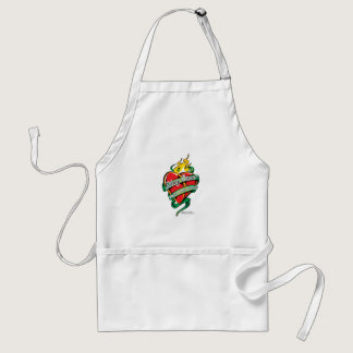Kidney Cancer Tattoo Heart Adult Apron