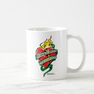Kidney Cancer Tattoo Heart Coffee Mug