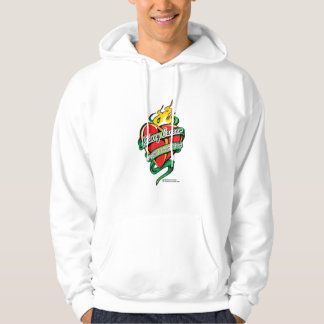 Kidney Cancer Tattoo Heart Hooded Pullover