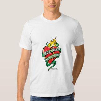 Kidney Cancer Tattoo Heart Tee Shirt