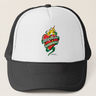 Kidney Cancer Tattoo Heart Trucker Hat