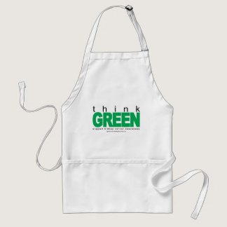 Kidney Cancer Think Green Adult Apron