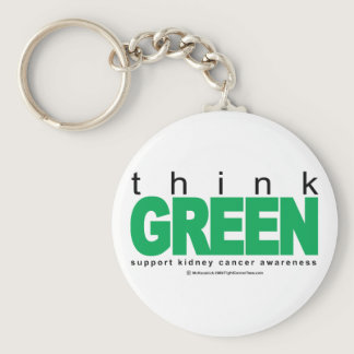 Kidney Cancer Think Green Keychain