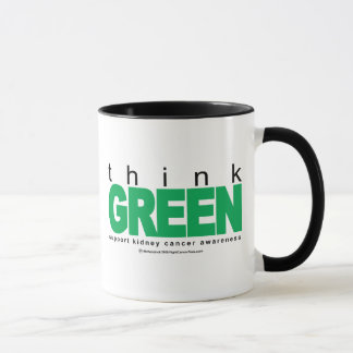 Kidney Cancer Think Green Mug